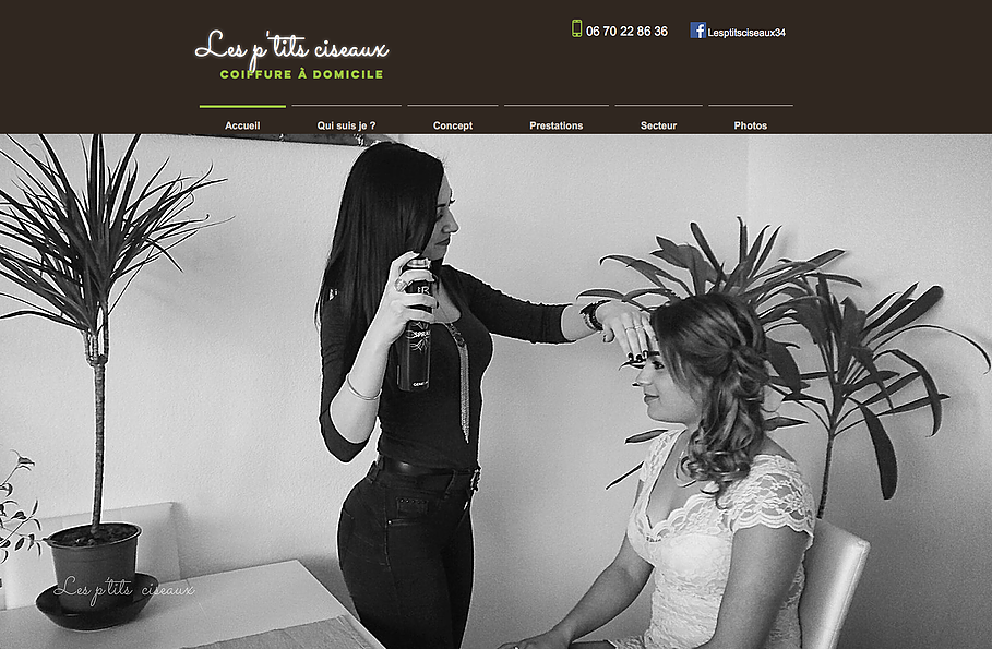 Creation site internet coiffeuse a domicile herault