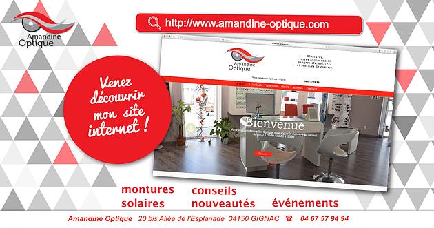 site internet amandine optique 2018