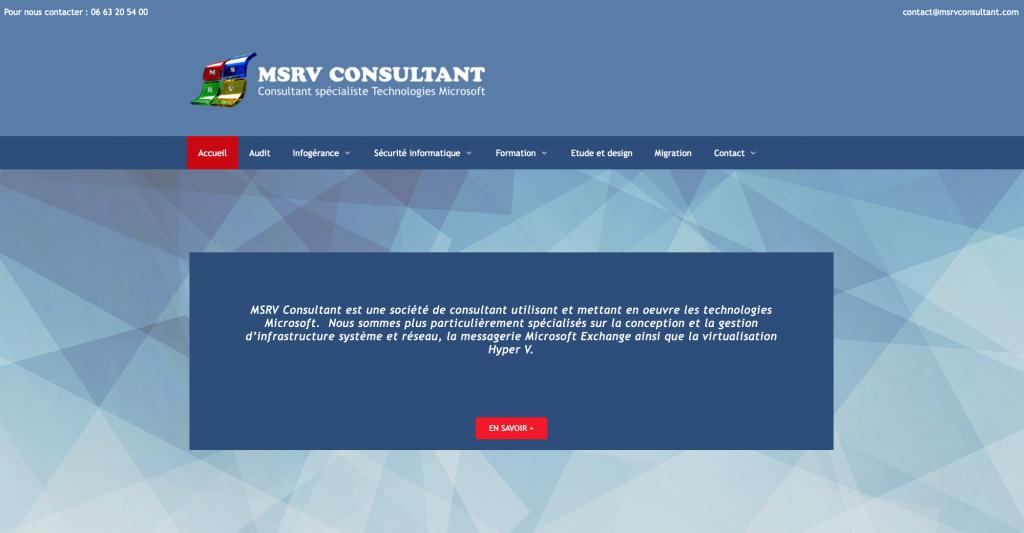 site internet MSRV consultant