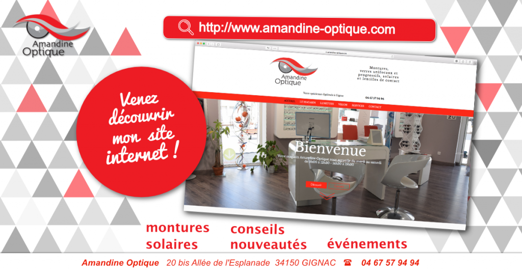 annonce site internet amandine optique sites internet webdesign34 gignac