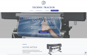 site internet technic traceur industrie artisanat webdesign34.fr